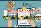 Thêm nhiều trường hợp được miễn lệ phí môn bài từ ngày 25/02/2020